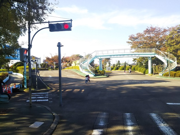 今治交通公園赤の信号機