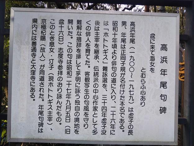 志度寺 高浜虚子碑説明