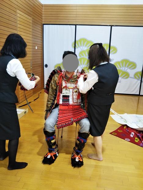 香川県立ミュージアム 鎧着付け体験3