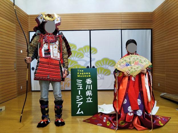 香川県立ミュージアム 十二単の着付け体験