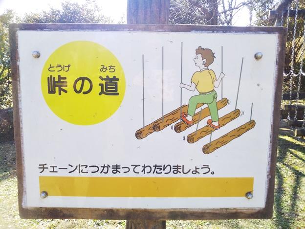 小松中央公園 トリムコース 峠の道看板