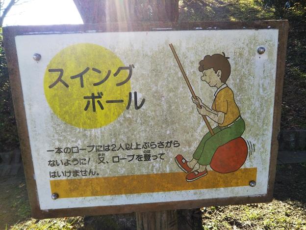 小松中央公園 トリムコース スイングボール看板