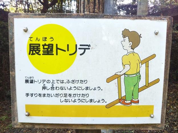 小松中央公園 トリムコース 展望トリデ看板