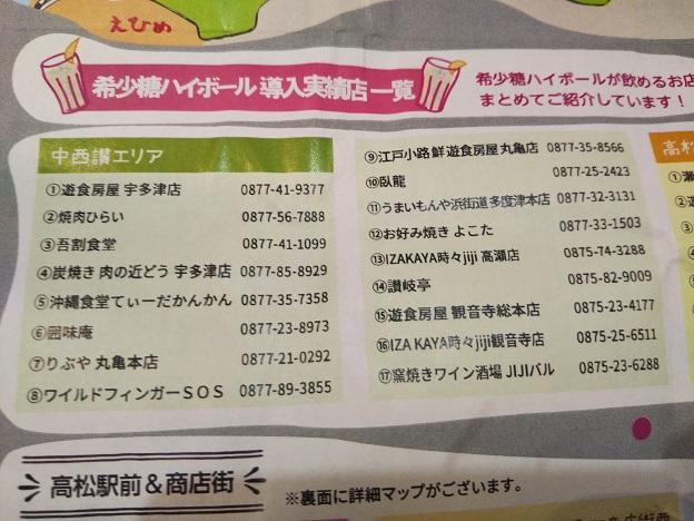 希少糖ハイボール導入実績店一覧2020.01