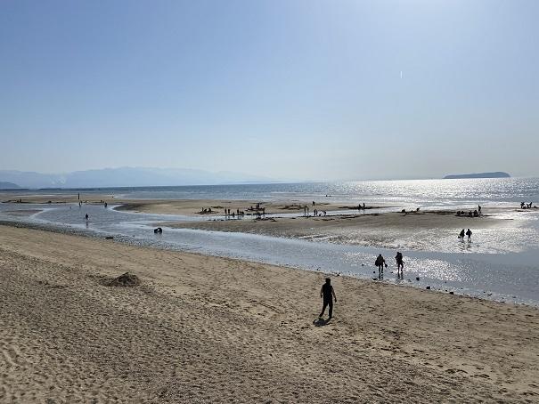 有明ふれあい海岸大潮の干潮