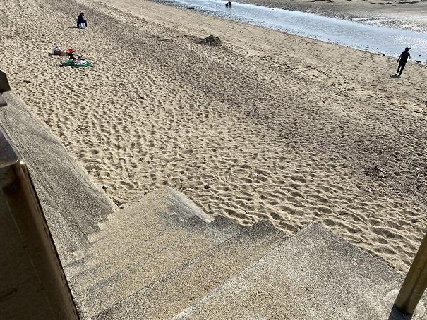 有明ふれあい海岸階段