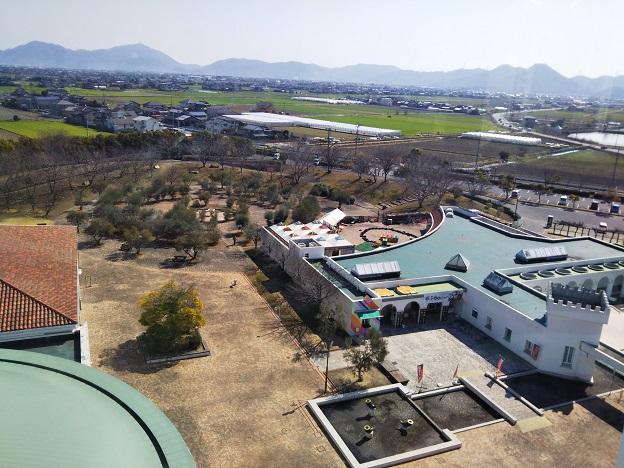 岡山市サウスビレッジ 展望室からの眺め