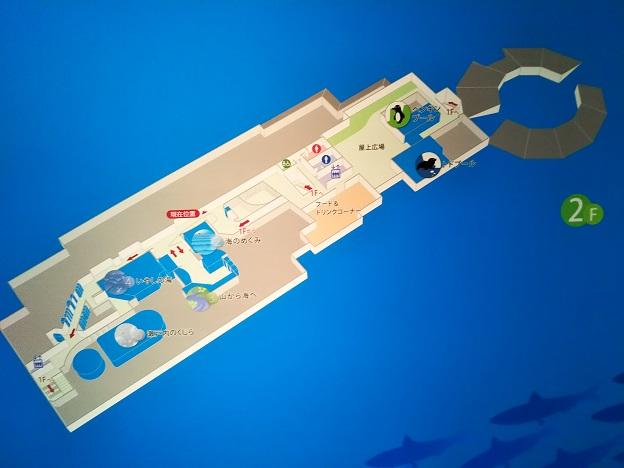 宮島水族館 2階案内図