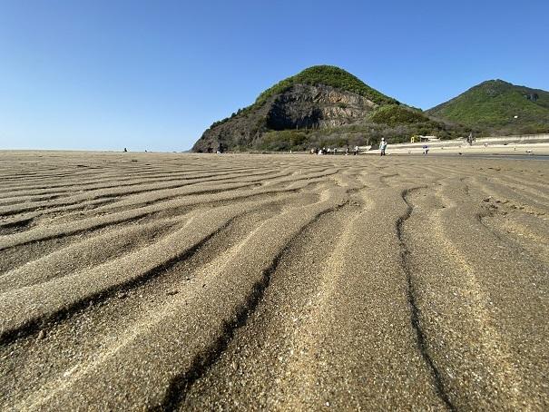 マテ貝が取れる海岸と海水浴場