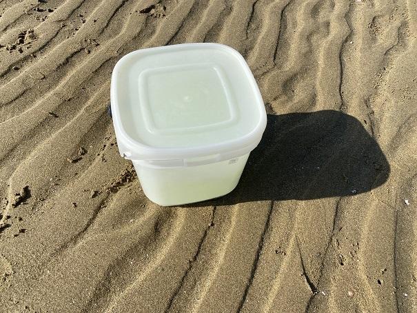 蓋のついた容器マテ貝