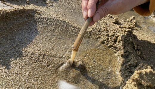 マテ貝の潮干狩り コツ 方法 道具が分かればたくさん取れる