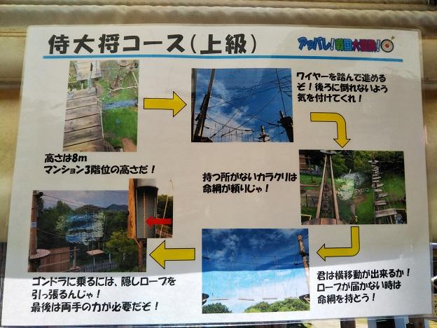 ニジゲンノモリ クレヨンしんちゃんアドベンチャーパーク 侍大将コース
