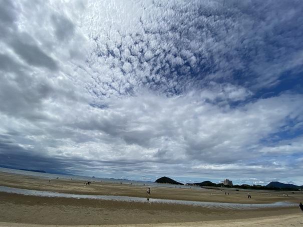 父母ヶ浜の昼間の風景