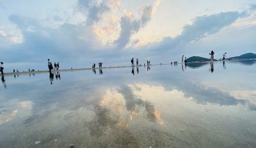 父母ヶ浜 ウユニ塩湖風インスタ映え写真とおすすめ飲食店 香川県三豊市