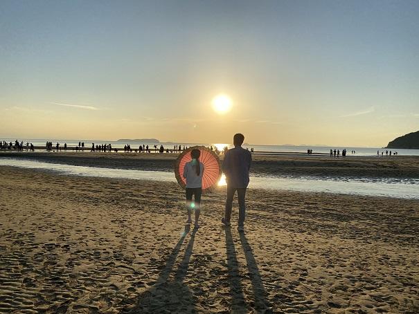 父母ヶ浜の写真スポットへスタート