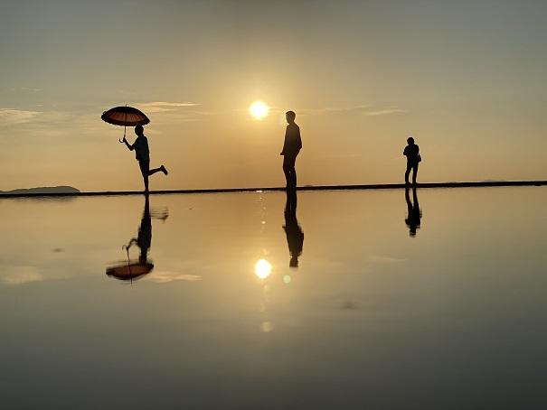 低い位置から撮った父母ヶ浜の写真