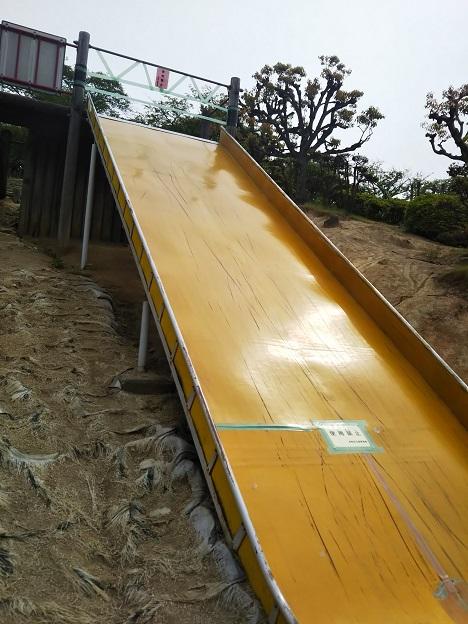 種松山公園西園地 冒険の森 すべり台3