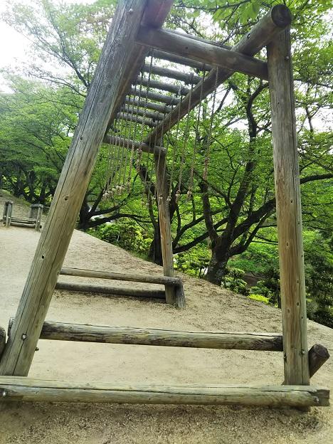 種松山公園西園地 冒険の森 サル渡り