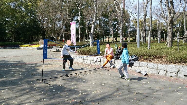 サンパーシー バドミントンネット3.05m×1.55m公園で遊ぶ