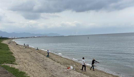 有明浜海水浴場や有明浜ふれあい海岸でキス釣り 観音寺市
