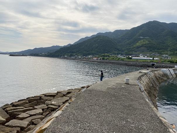 箕浦漁港石積み