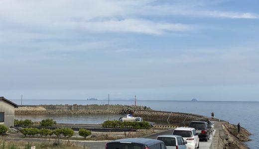 箕浦漁港でキスの投げ釣り引き釣り 観音寺市