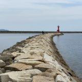 豊浜港の赤灯台