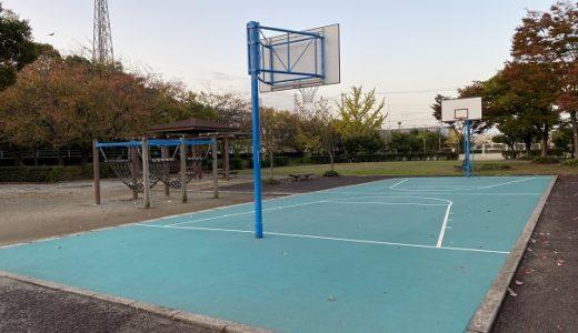 堀江公園はバスケットコートやサッカー場やターザンロープで楽しめる 多度津町
