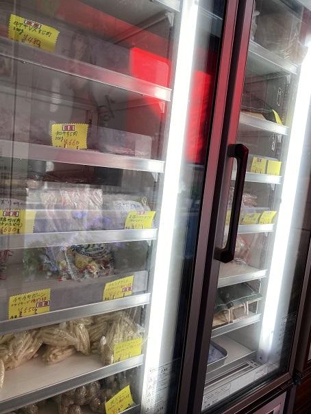 前田精肉店 冷凍ケース