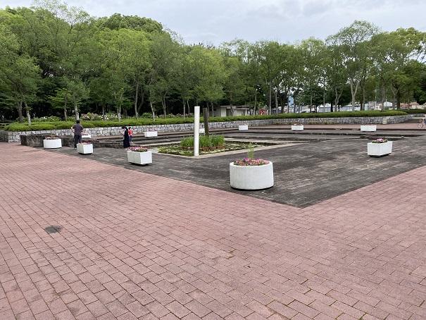 番の州公園 噴水広場