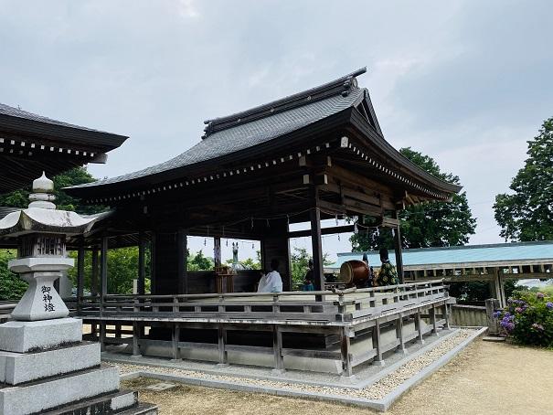 粟井神社あじさい祭祭典