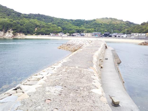 仁老浜漁港の防波堤