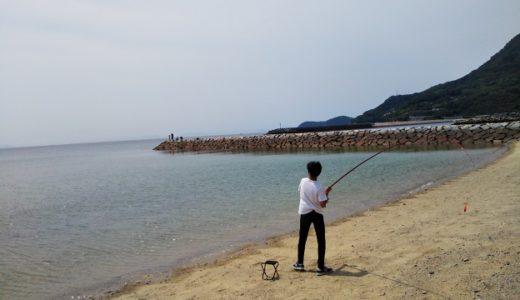 大浜漁港 石積みの防波堤 砂浜でキスなど投げ釣りで五目釣り 三豊市庄内半島