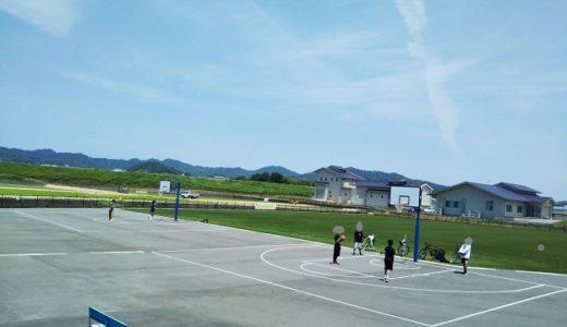 池戸多目的広場 バスケットゴールがある公園 三木町