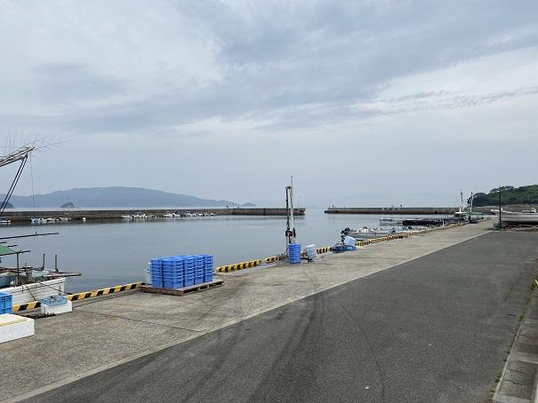 馬篠漁港の漁船