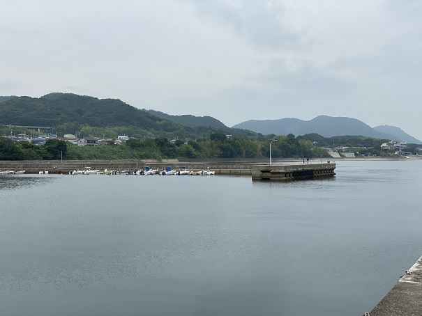 馬篠漁港左側防波堤