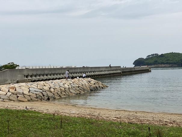 馬篠漁港石積み