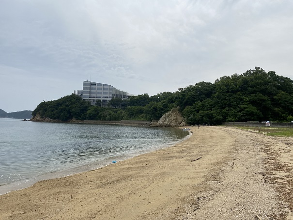 馬篠漁港海水浴と砂浜