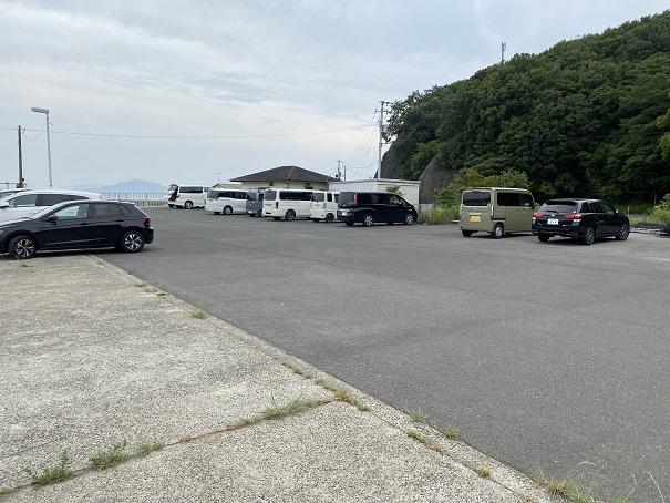 小田浦漁港の駐車場