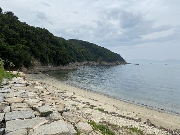 海釣り公園跡地砂浜と海水浴