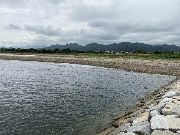 湊川河口のキス釣り