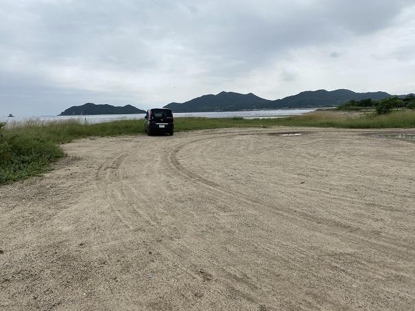 湊川河口のキス釣り駐車場