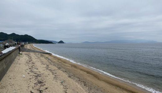 横内海岸のキス釣り 投げの引き釣り 海水浴 東かがわ市