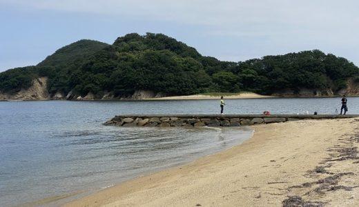 山田海岸でキス釣り 投げの引き釣り 東かがわ市