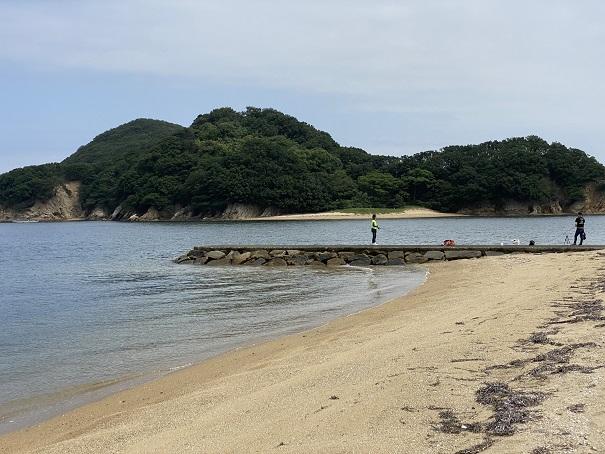 山田海岸でキス釣り