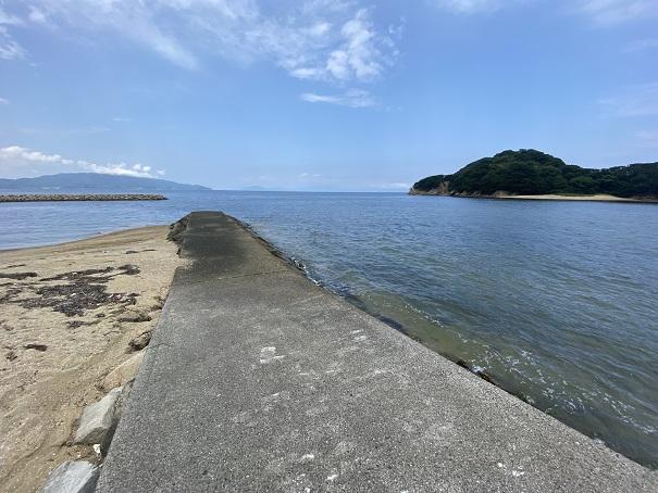 山田海岸東側の防波堤