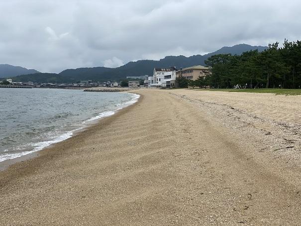 津田の松原海水浴場で釣り