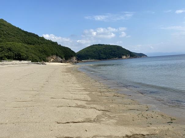 名部戸海水浴場砂浜