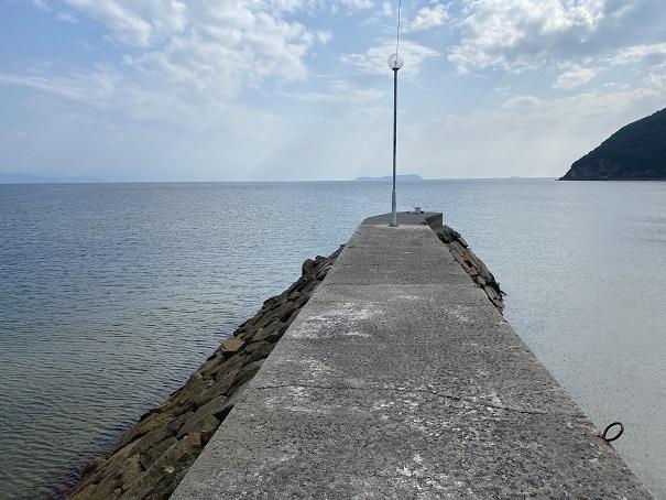 名部戸漁港防波堤