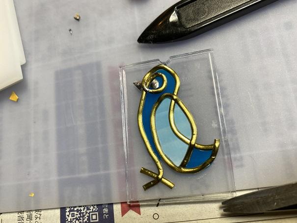 アトリエMyステップ グラスアートのキーホルダー作り体験9